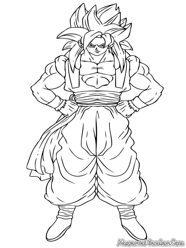 Super Saiyan 4 Gogeta Coloring Pages Gogeta Coloring Pages