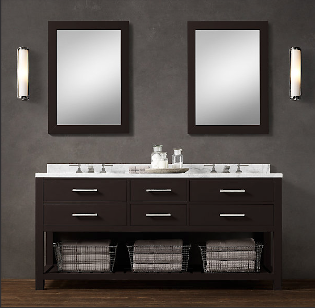 Original Mirrors And Bath Accessories All From Restoration Hardware  BATHROOM