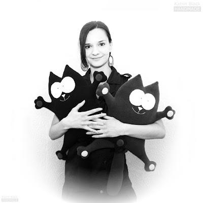 Кот Саймон- мягкая игрушка-подушка из флиса ручной работы от Katrin Black