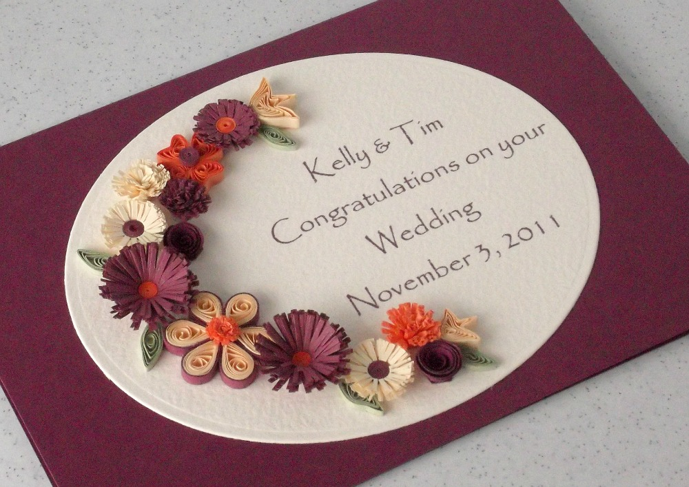 Paper Daisy Cards Quilled Wedding