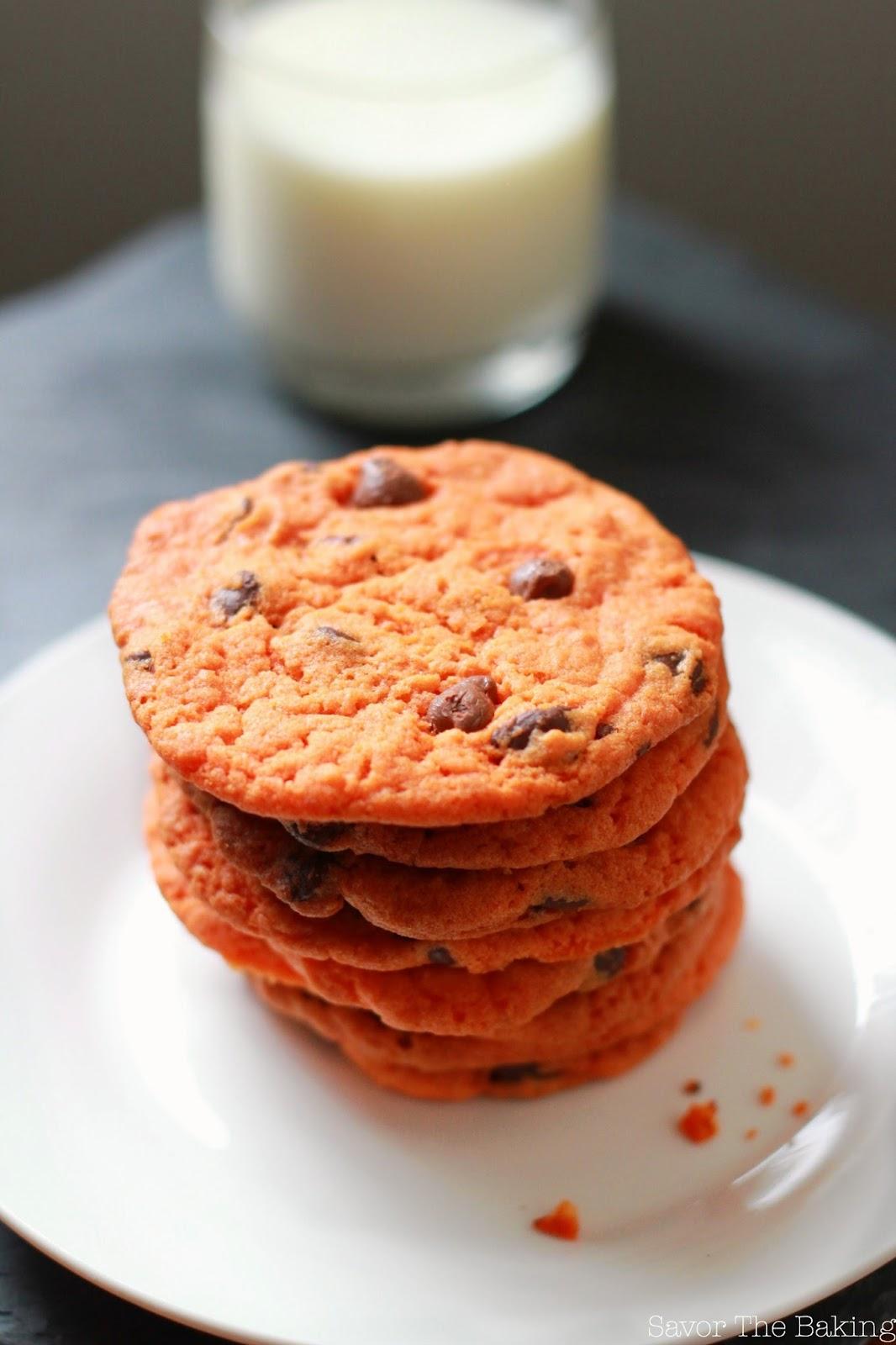 savor the baking: halloween chocolate chip cookies