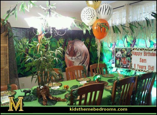 Jungle Birthday Party Decor Image Inspiration of Cake and