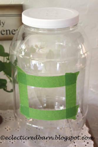 plastic pretzel container with tape