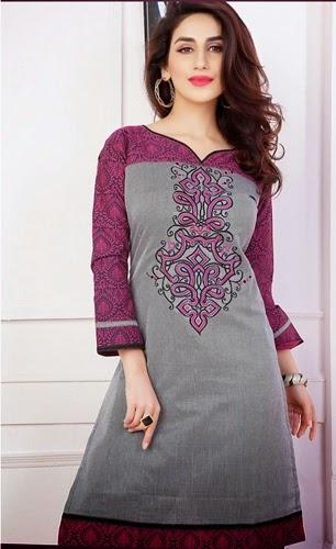 Hand amp machine embroidery designs for kurtis fashion