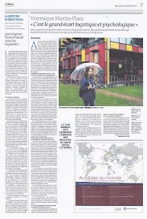 Article du quotidien Le Monde sur Veronique Martin-Place - 4 juin 2013