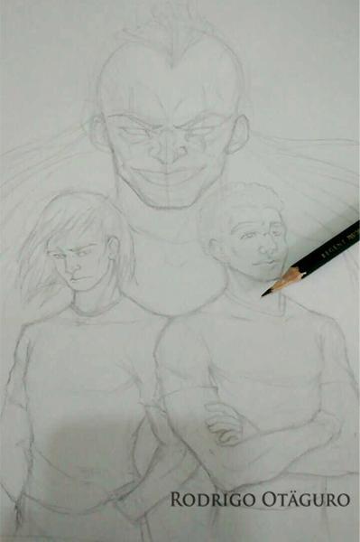 Rodrigo Otäguro - Esboço feito à lápis