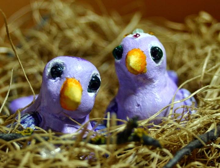 purple birdies