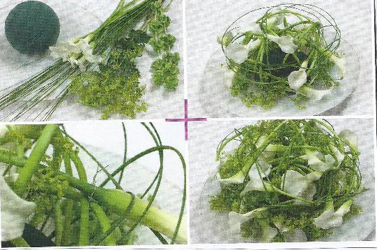 Vivre Feng Shui Bordeaux composition florale boule darums