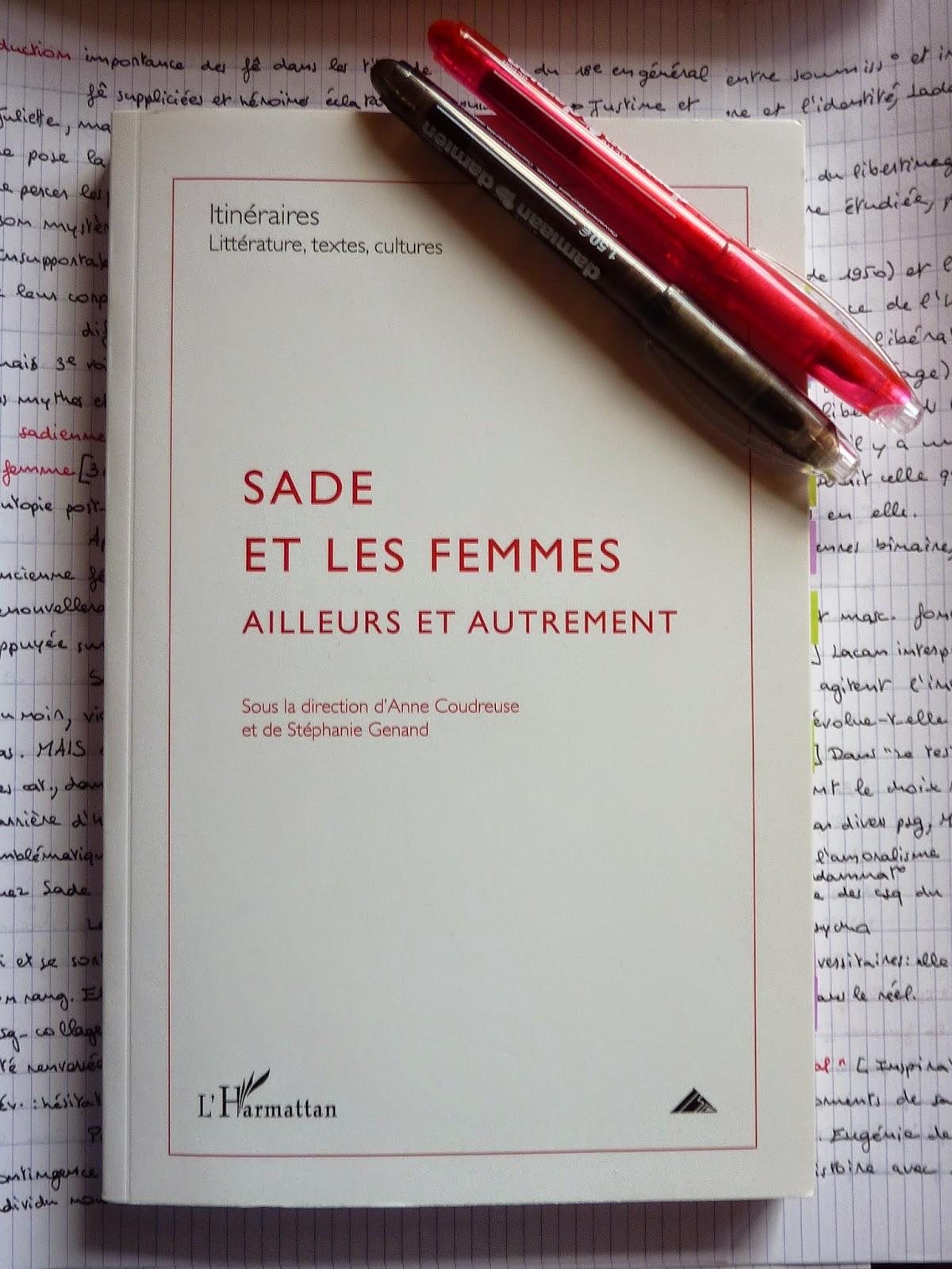 Sade et les femmes - Itinéraires