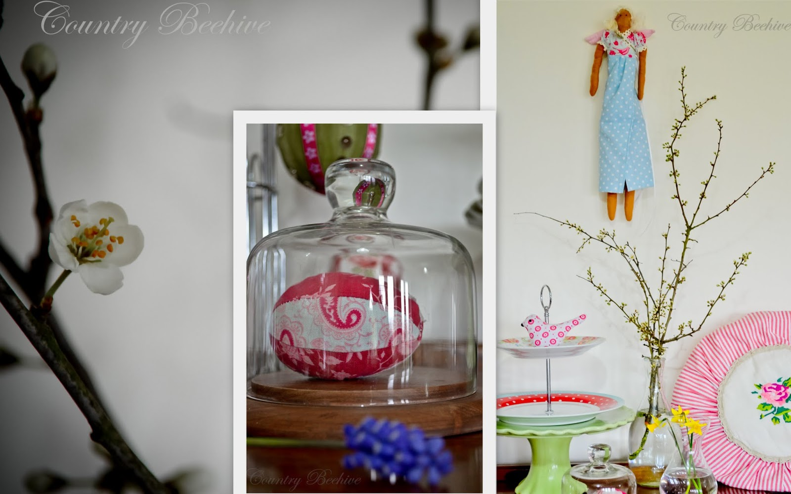 country beehive easter decor a few touches
