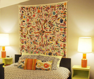 Cabecero de alfombra o de cualquier tela dormitorios - Cabeceros de tela decoracion ...