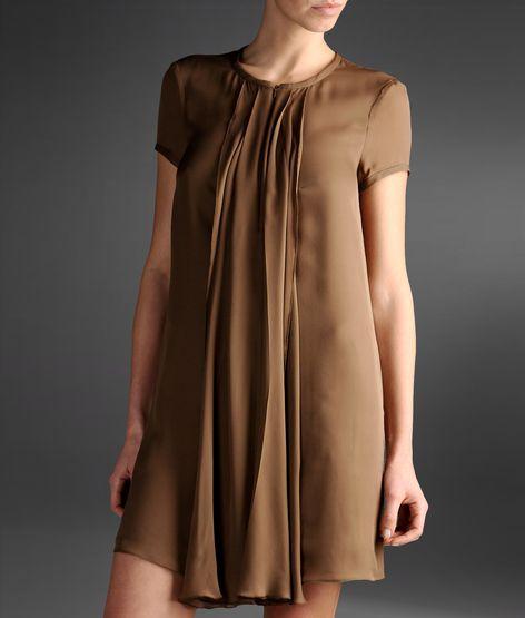kahve tonlarında elbise