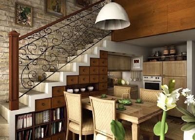 cocina bajo escalera