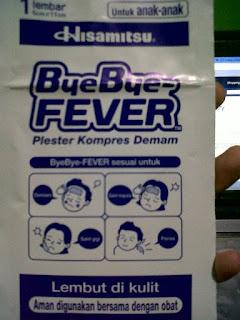 Bye bye fiver obat Kepala Pusing Pada Anak