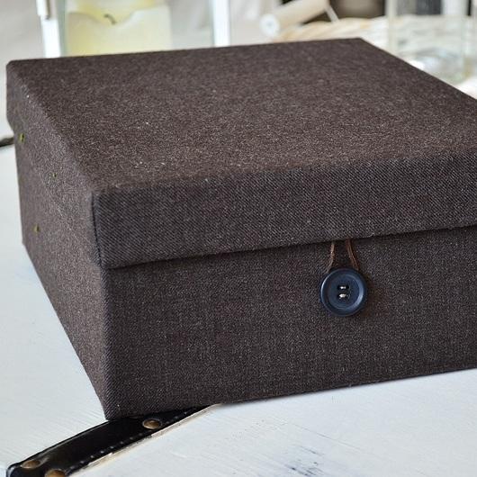 DIY- materiałowe pudło