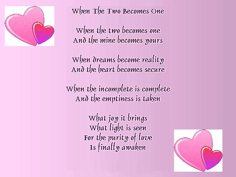 When Two Becomes One