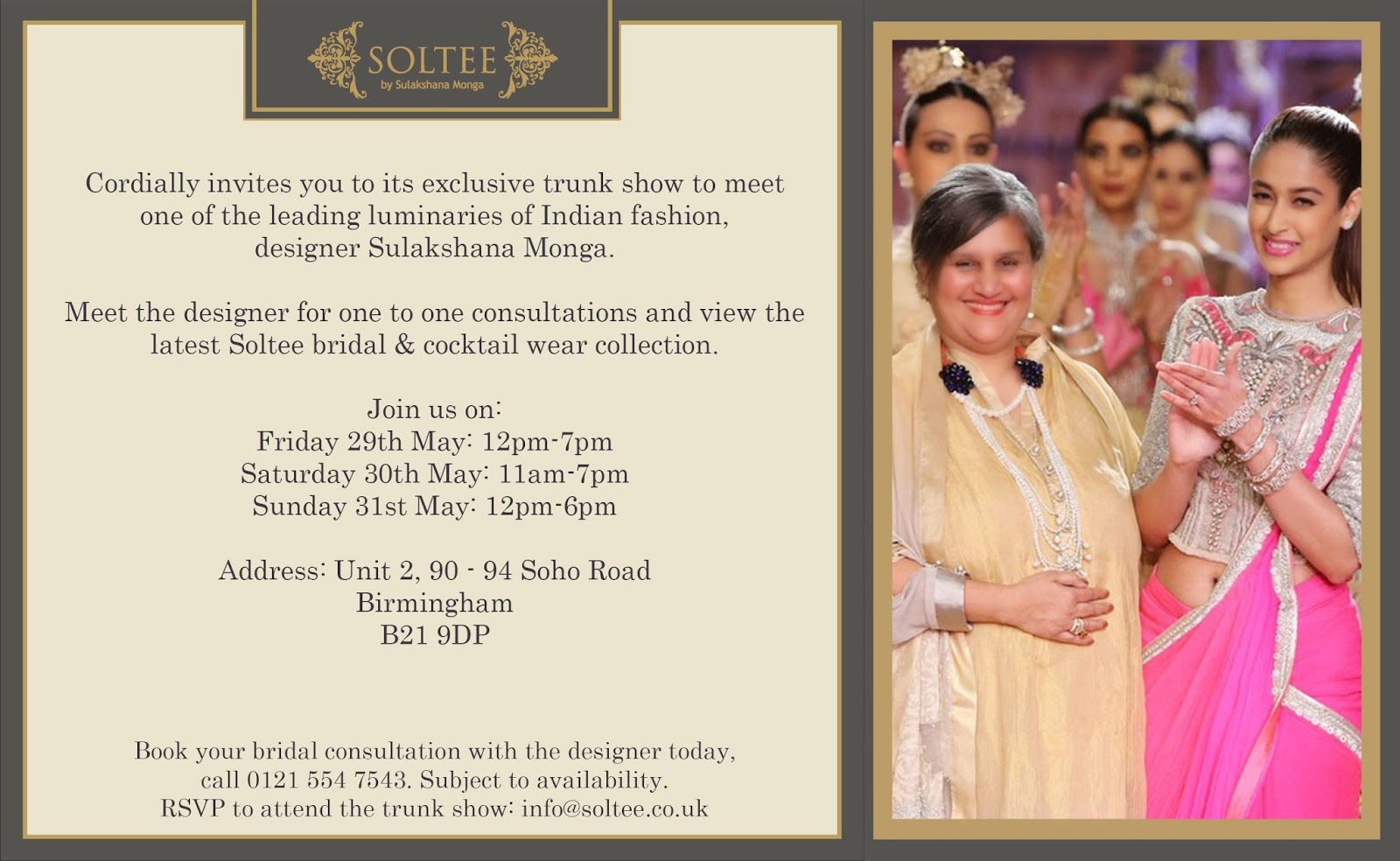 The Rebirth of Fashion Your Invite Sulakshana Monga Hosts