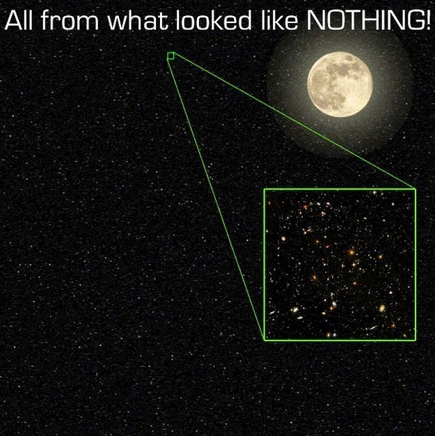 26 Pictures Will Make You Re-Evaluate Your Entire Existence - AND JUST KEEP THIS IN MIND — THAT'S A PICTURE OF A VERY SMALL, SMALL PART OF THE UNIVERSE. IT'S JUST AN INSIGNIFICANT FRACTION OF THE NIGHT SKY