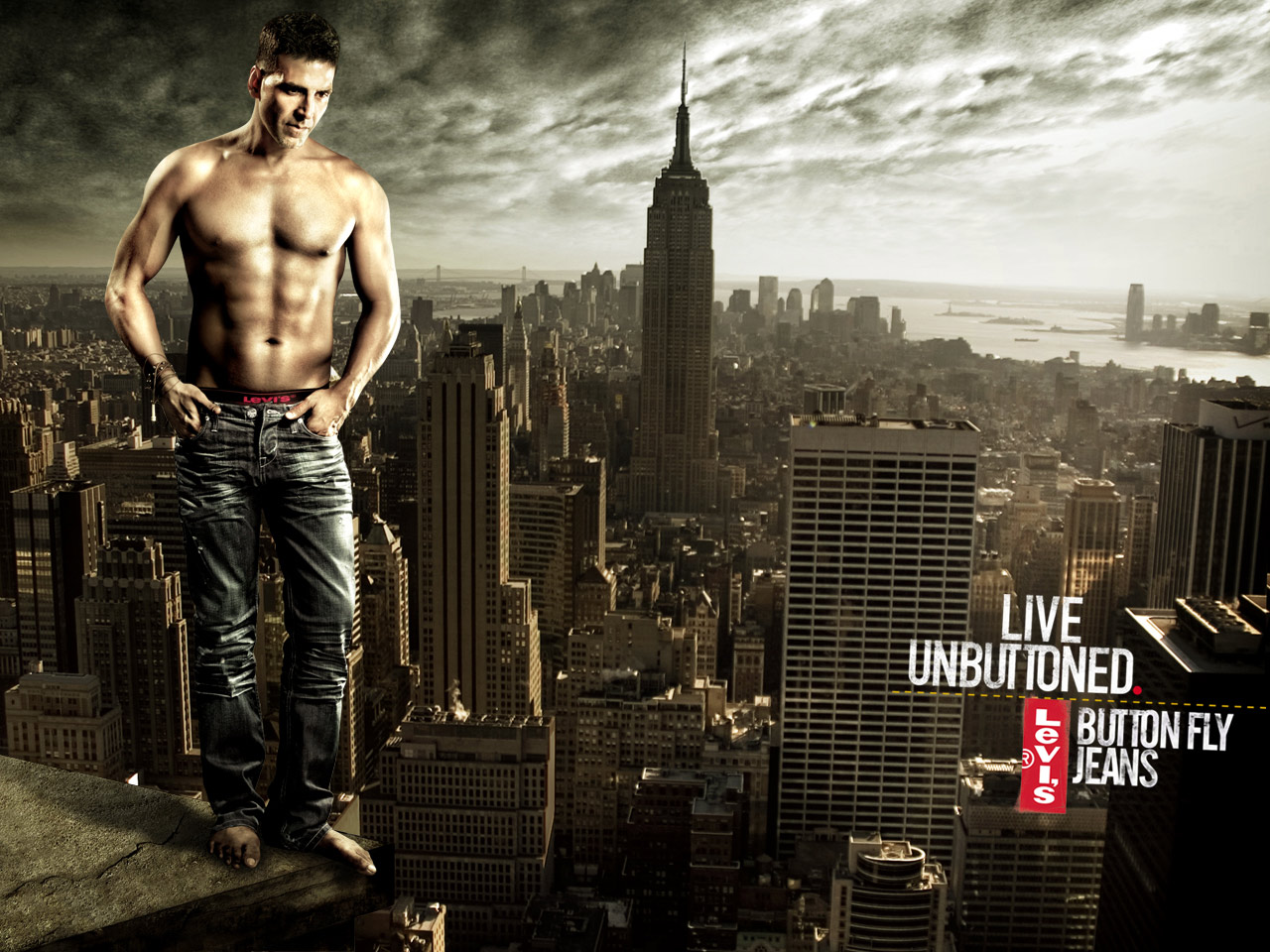 Bollywood Actor Levis 501 Promo Live Unbuttoned Button Fly Jeans