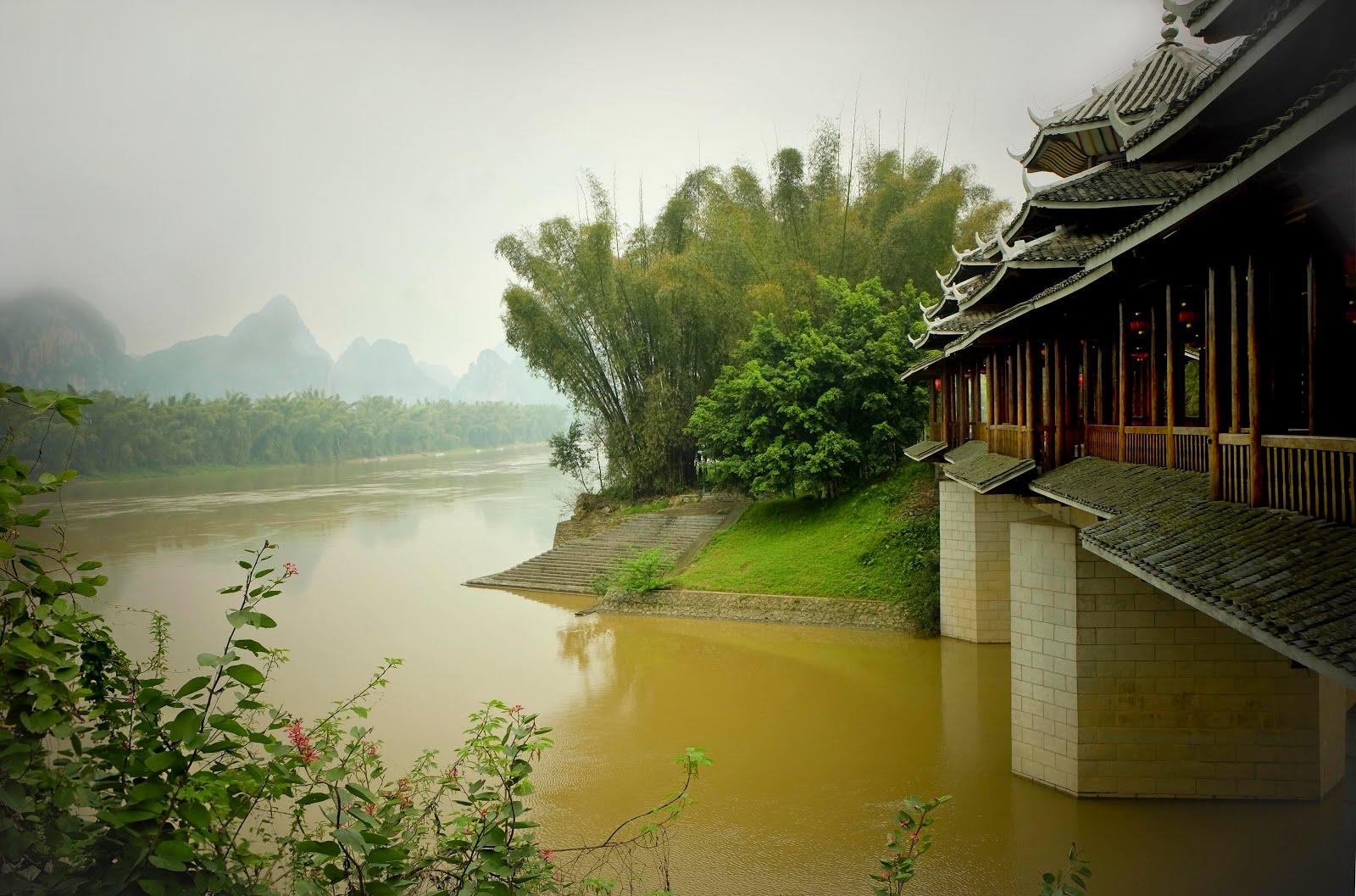 Le pont couvert et l'ile