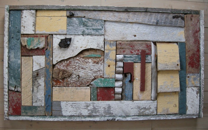 assemblages, wood, beach finds, driftwood, Newfoundland, Margaret Ryall