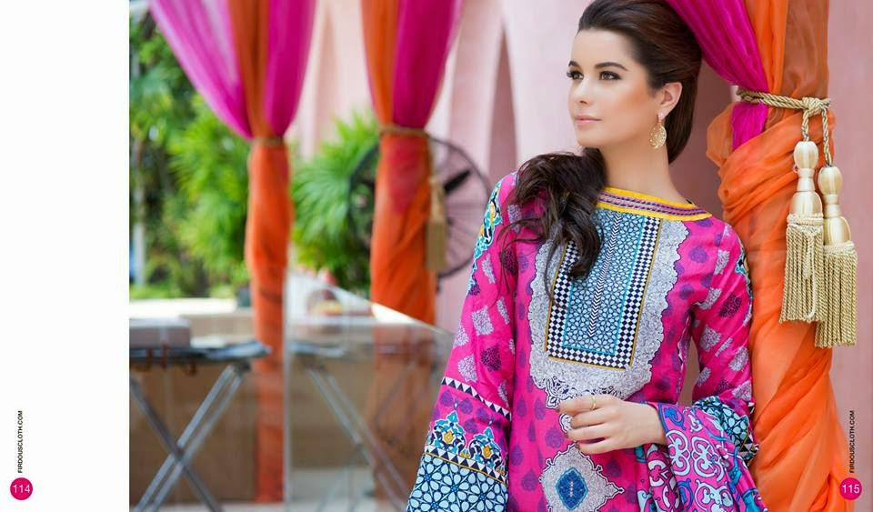 Firdous Summer Lawn 2015 Collection