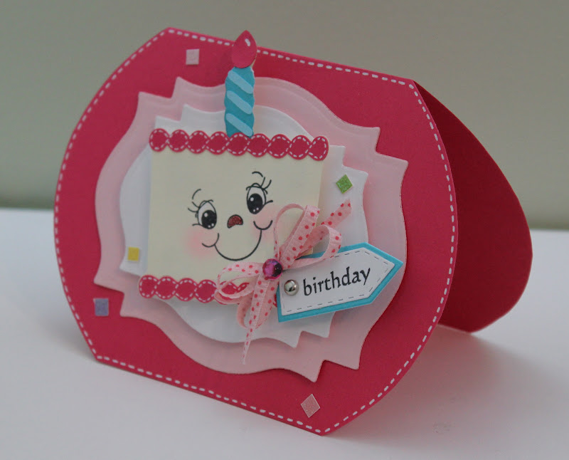 Creative Ideas For Making Birthday Cards Part - 37: I Made This Card To Enter Some Exciting Challenges. I Like Birthday Cards  Made With The Cricut Because You Can Design It Yourself, Thank Goodness My  Mom ...