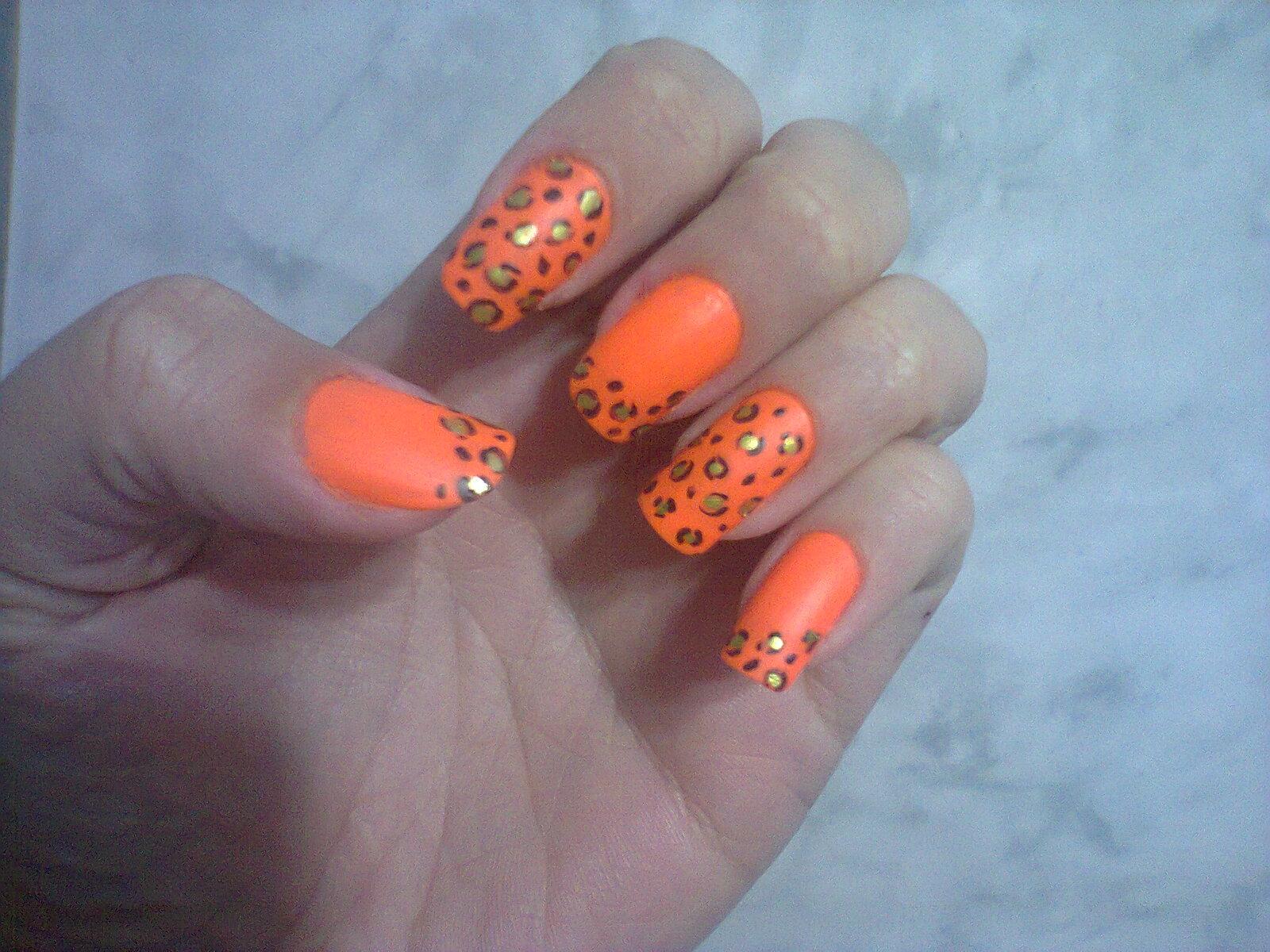 unhas decoradas laranja jpg