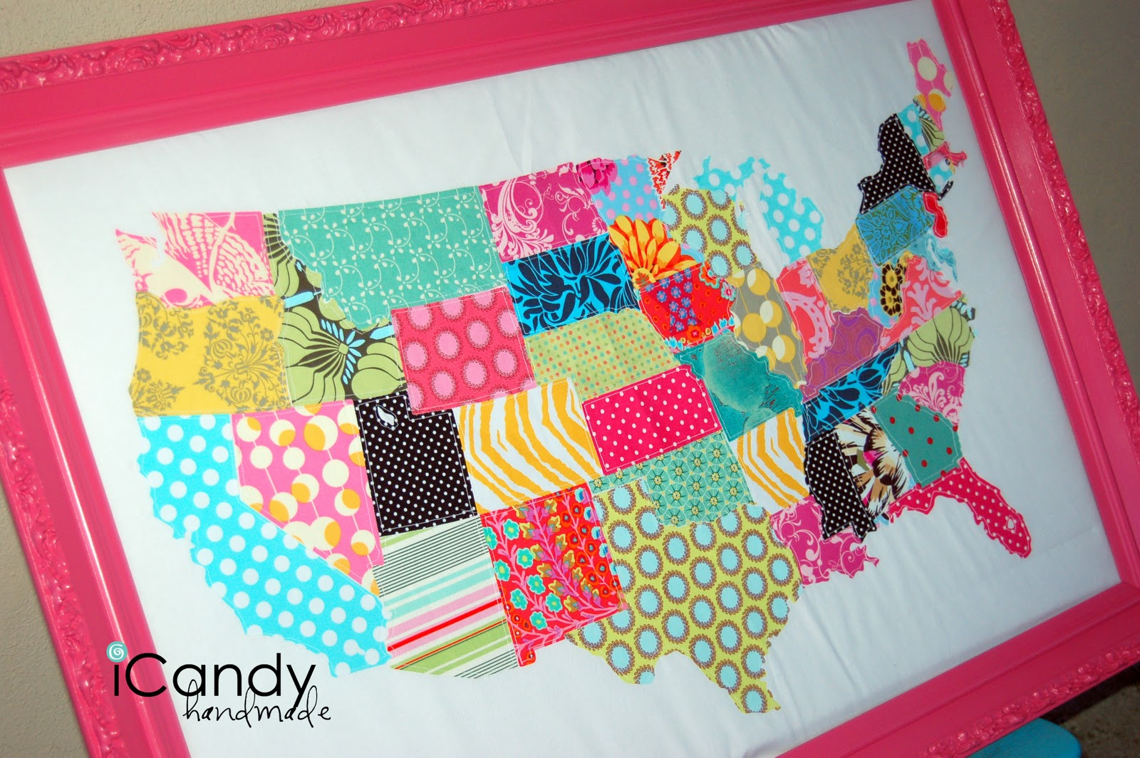 My Continental United States ICandy Handmade - Map us states r
