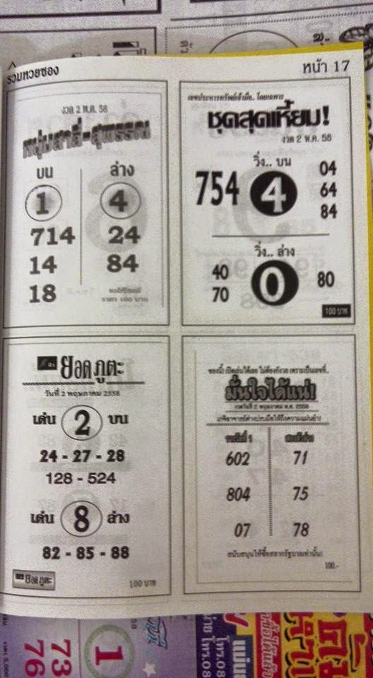 Lottery tips best thai lottery hot and exclusive paper thai lotto tip