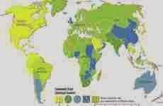 Mapa online que muestra los enchufes y conectores utilizados en cada país