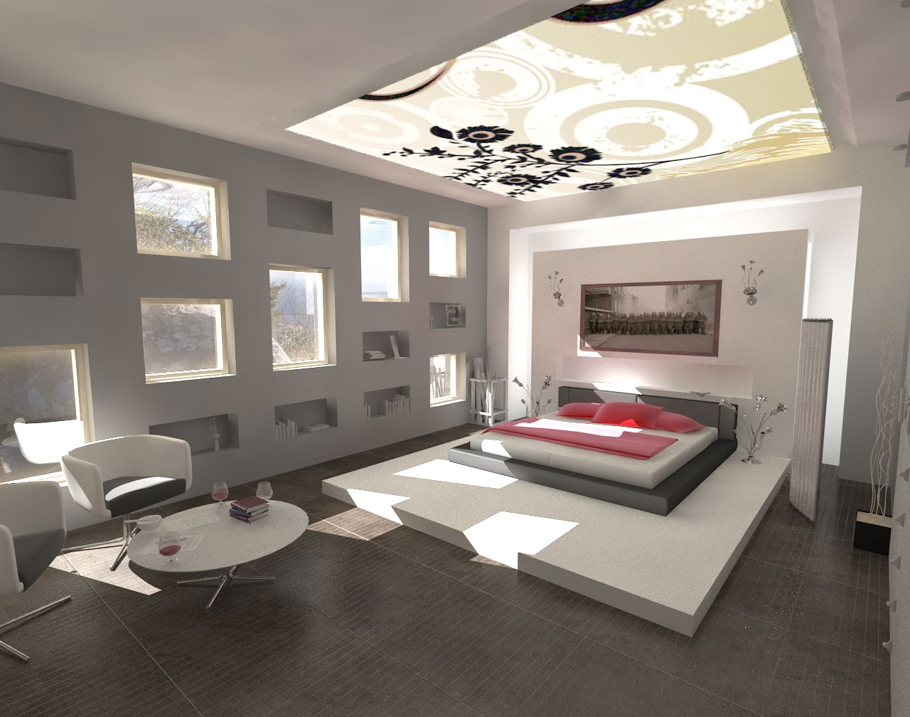 Exclusive interior bedroom ideas home design ideas and for One bedroom house interior design