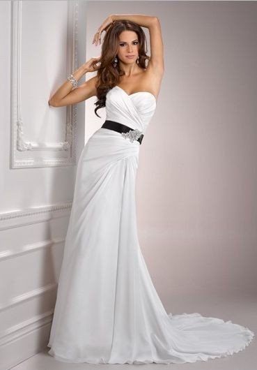 Wedding inspiration simple strapless wedding dress for Simple strapless wedding dress