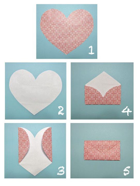 How to make Envelops from Heart Shapes