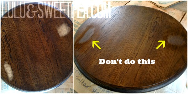 I Carefully Sanded The Stain And Fingerprints Off And Tried Re Staining  Just Those Spots. Nope. Didnu0027t Work. No Matter How Much I Tried I Could Not  Get The ...