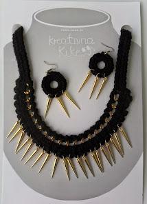 kK ogrlica & naušnice BODLJE :)