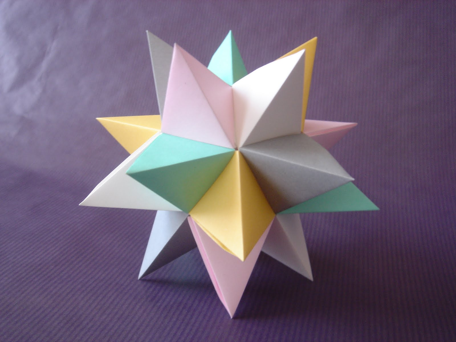 Pleg ndome agosto 2011 - Origami de una estrella ...