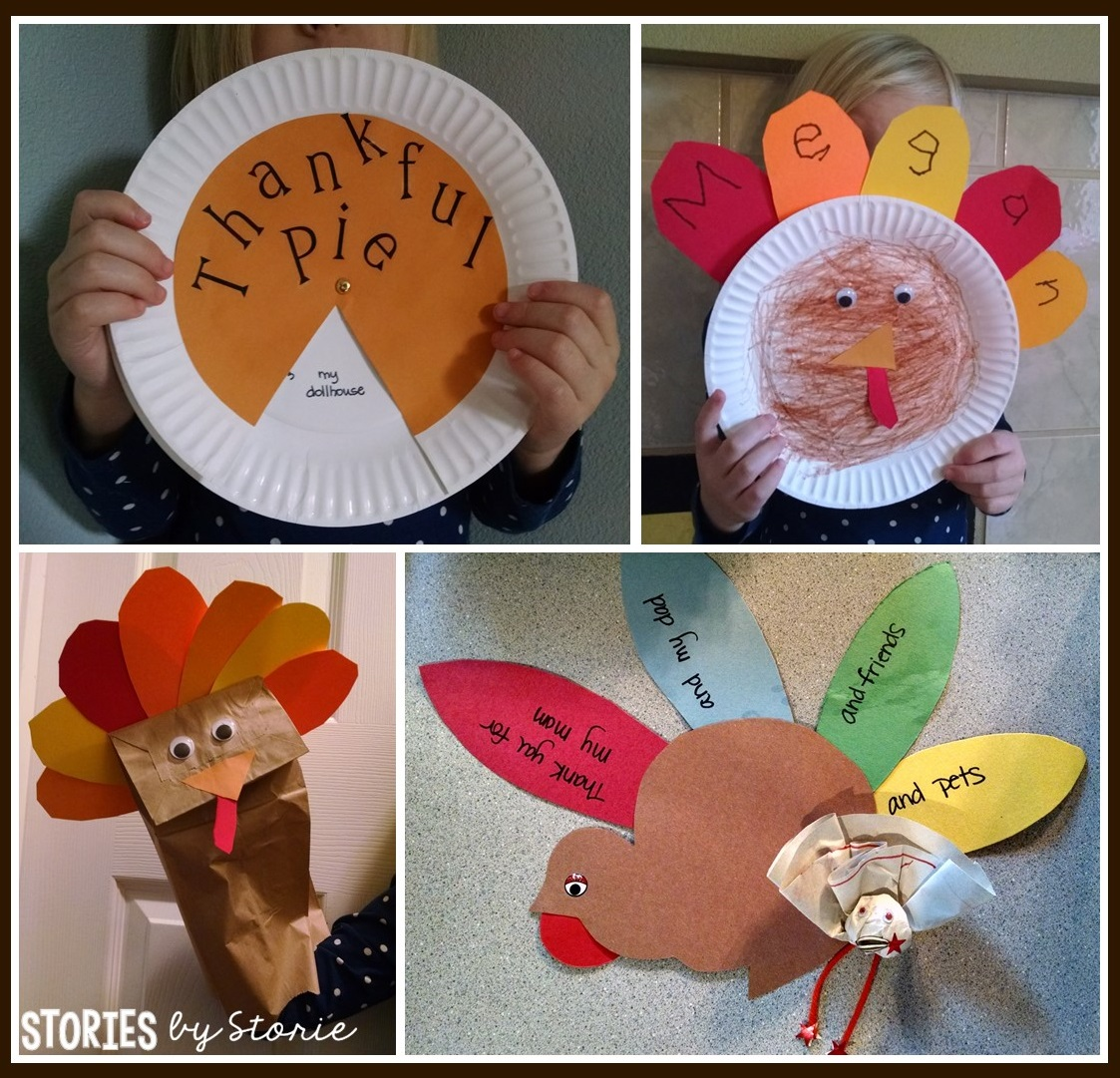 Thanksgiving arts crafts for little ones for Thanksgiving turkey arts and crafts