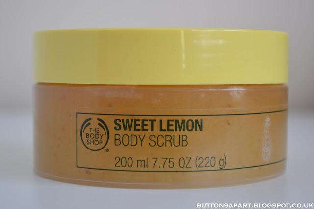 a picture of the body shop sweet lemon body scrub