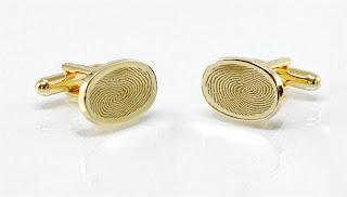 gemelli da polso personalizzati con le tue impronte digitali in oro