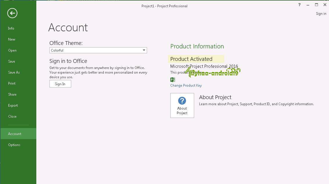 Microsoft Project Professional 2016 full