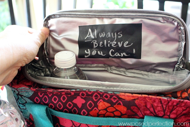 Want to connect with your kids while they are at school? Try surprising them with these Chalkboard Tape Lunch Box Notes!
