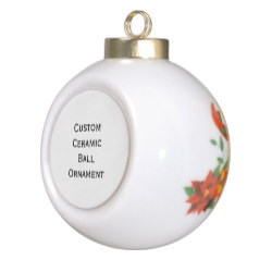 Custom Ceramic Ball Photo Christmas Ornament