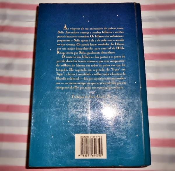 Resenha, livro, O Mundo de Sofia, Jostein Gaarder, capa, resumo