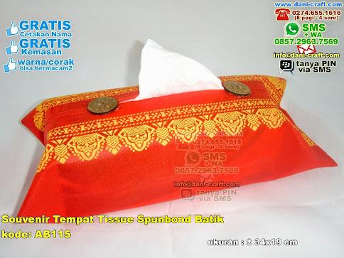 Souvenir Tempat Tissue Spunbond Batik