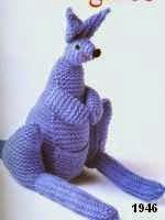 patron gratis canguro amigurumi de punto, free knit amigurumi pattern kangaroo