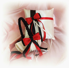 Red and black basket and pillow
