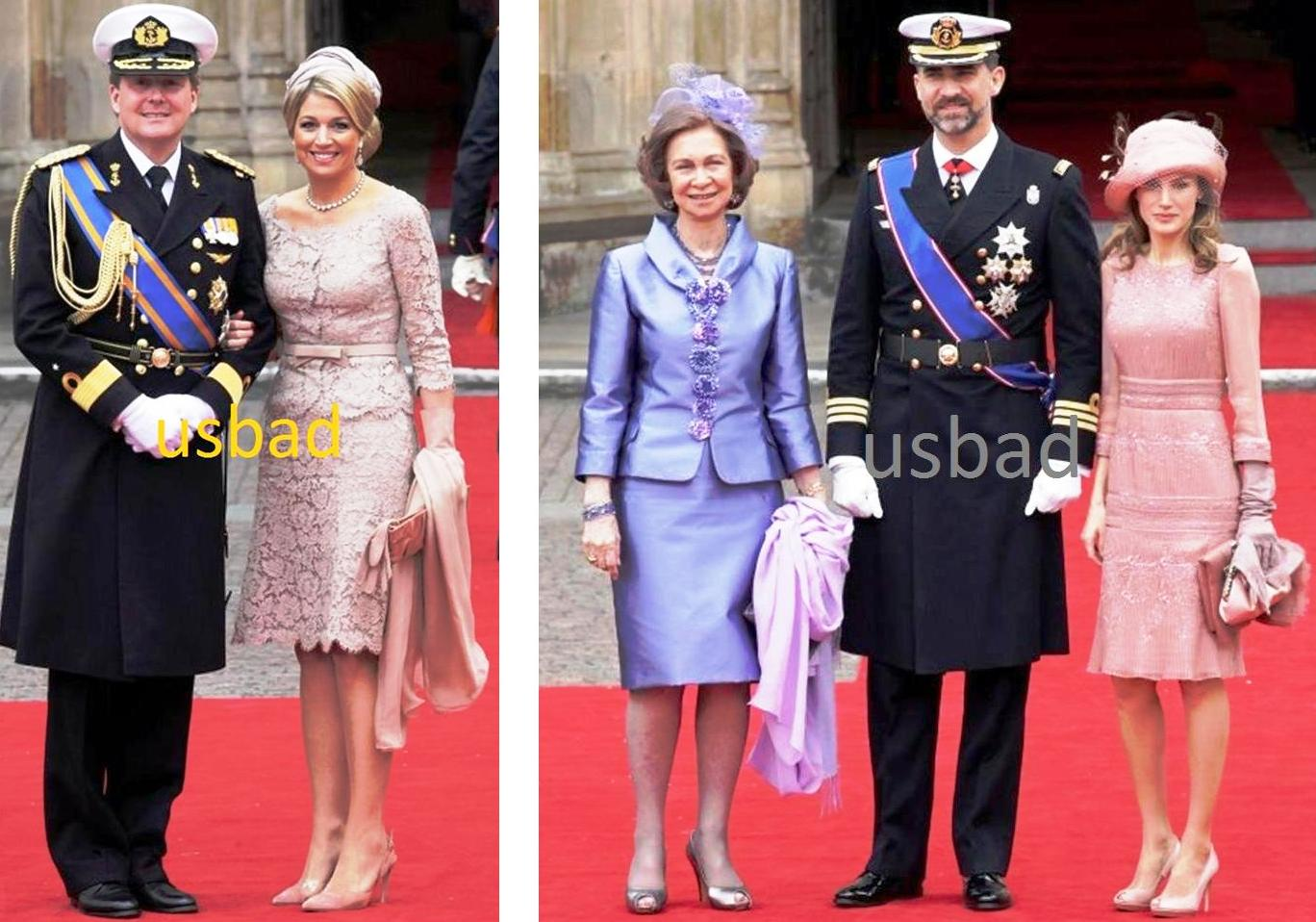 Gambar kiri adalah Putera Mahkota Willem Alexander dan Puteri Maxima