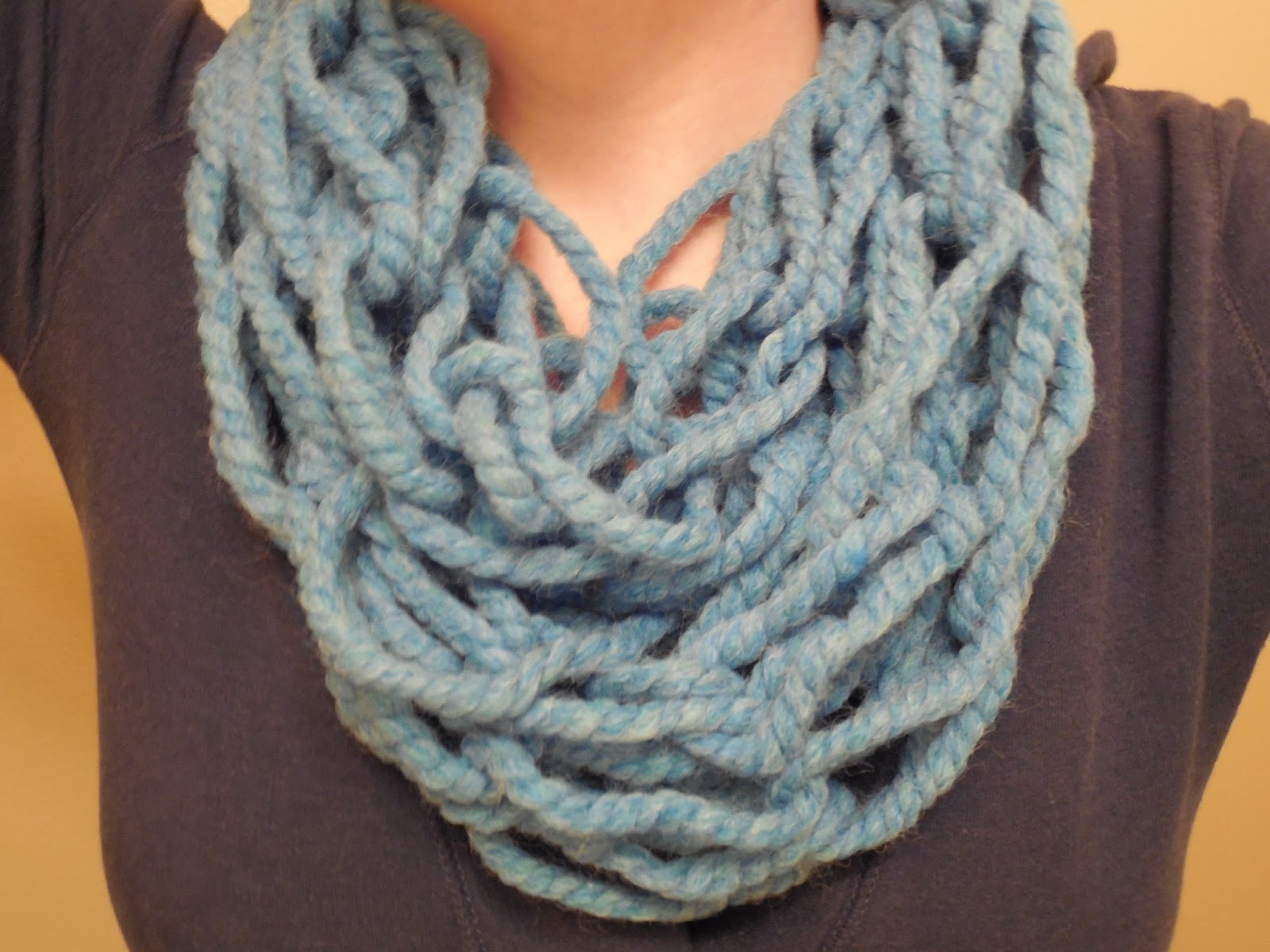 Knitting With Your Arms Instructions : Hooked on handmade arm knitting