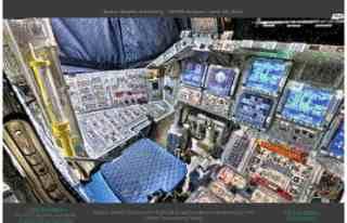Tour virtuale Shuttle Discovery, strumentazione 3D 360 gradi, Visitare interno Shuttle